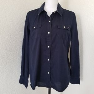 Tommy Hilfiger Navy blue boys shirt size XL
